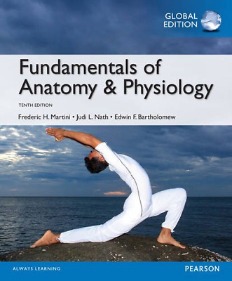 Fundamentals of Anatomy & Physiology, Global Edition, Acceptable Condition Book,