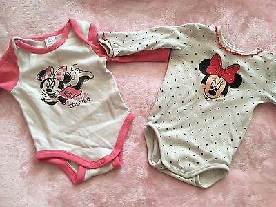 Baby Langarm Bodys Minnie Mouse Gr. 56