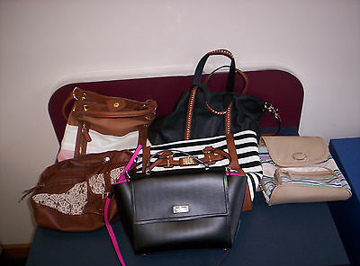 Handbags, Wallets, Makeup bags, Used Good Quality Lot