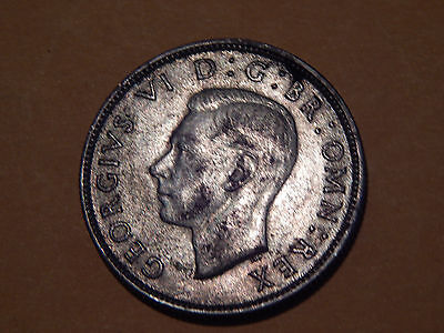 British 1942 Wartime Two Shilling/One Florin George VI Copper/NIckel