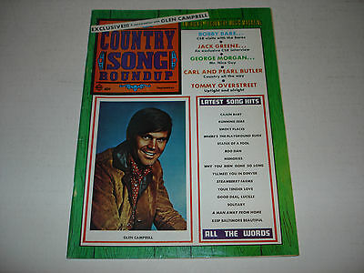 GLEN CAMPBELL on cover Country Song Roundup magazine September 1969 Buck Owens