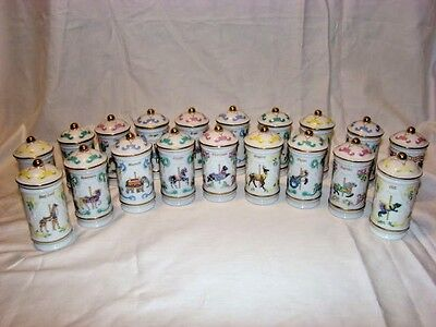 LENOX 1993 THE SPICE CAROUSEL PORCELAIN SPICE JARS NEW Lot of 19