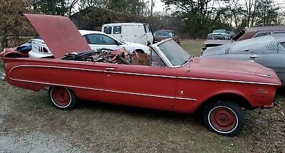 1963 Mercury Comet  1963 Mercury Comet Converible v8 toploader 4 speed rangoon red white top project