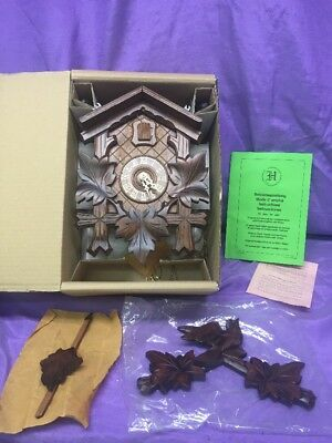 Vintage Authentic German Black Forest Cockoo Clock NEW IN BOX Germany