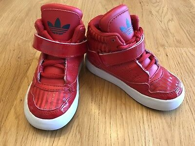 ADIDAS Toddler Size 6 Infant Boys Sneakers Shoes Red w/ Laces