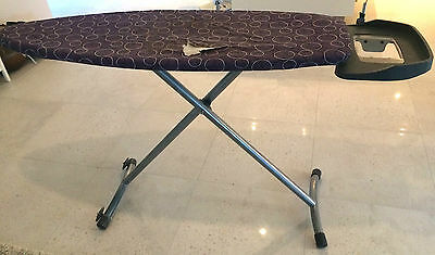 Ironing Board with wheels and Iron stand, Large Excellent condition
