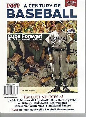 """2017' Chicago Cubs ''a Century Of Baseball """"""""norman Rockwell"""""""" Collectors Issue"""