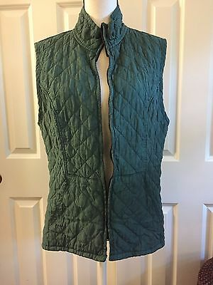 Cut Loose Brand Quilted Green Vest Size Medium Women's