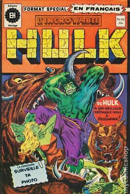 Incredible Hulk (L'Incroyable Hulk 1968) French Series #62 (203) GD/VG 3.0