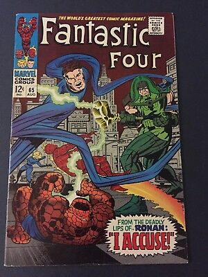 FANTASTIC FOUR #65 (1967) 1st RONAN THE ACCUSER FN/VF VERY NICE COPY!!