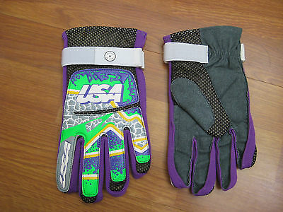 Usa Brand Gloves - Brand New  - Purple  - Large