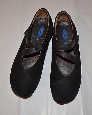 WOLKY ~Perfect~Passion Black suede Mary Jane Shoes Women's Size EU 40 / US Sz. 9