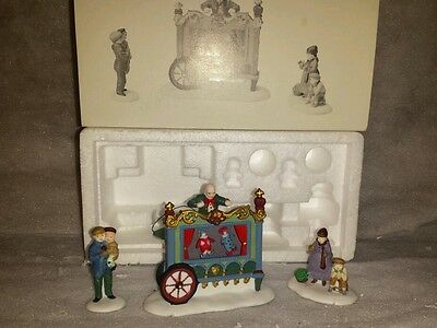 Dept 56 Dickens Village Series -- The Old Puppeteer Accessory Retired #58025 3PC