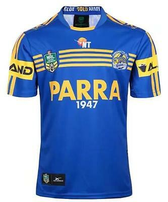 New 2017 Parramatta Eels rugby jersey rugby T shirt tee Size: S-3XL