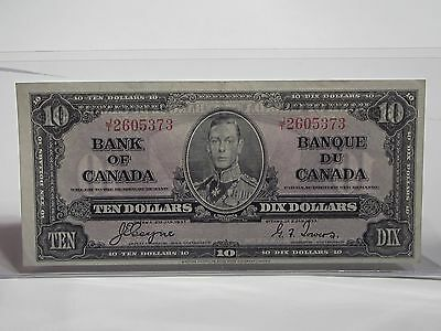 CANADA 1937  $10 Bank Note Ten Dollars  JT2605373      #816s37CTD
