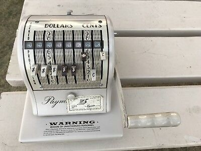 Vintage Paymaster Series 8000 Check Writer With Key