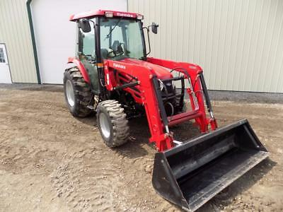 2015 Mahindra 2555 Tractor W/Mahindra 2555CL Skid Steer Quick Attach Loader, 4X4