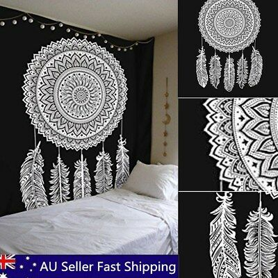 Dream Catcher Indian Tapestry Wall Hanging Mandala Hippie Bohemian Bedspread AU