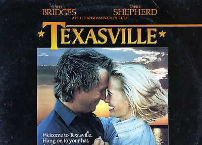 TEXASVILLE - Jeff Bridges & Cybil Shepherd - LASER DISC - NEW - Never played!