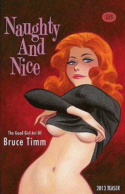 2013 Sdcc Exclusive Bruce Timm Naughty And Nice Sketchbook Signed! Sold-Out Oop