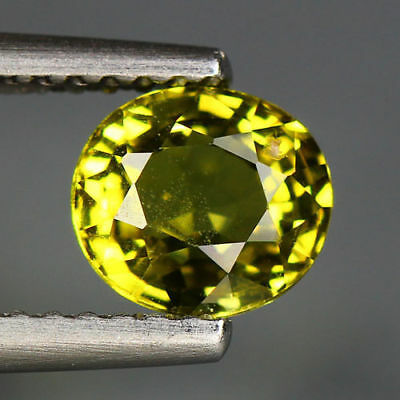 1.28 Cts_Glittering Top Fire_Lime Green_100 % Natural Chrysoberyl_Srilanka