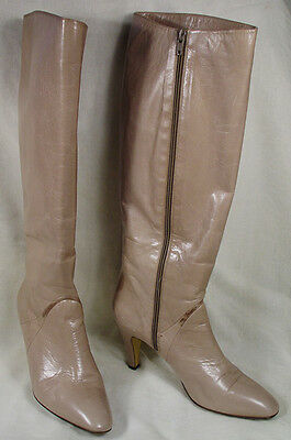 BRUNO MAGLI  Italy Woman's Tan Leather Knee High Boots 8 1/2 AA