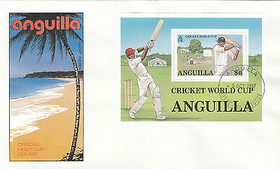 (03736) CLEARANCE Anguilla FDC Cricket World Cup NO INSERT