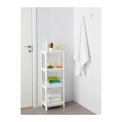 IKEA White 4 Shelf Bathroom / Storage / Organiser / Shelving / Shower Brand New