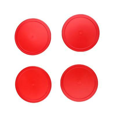 Set of 4 Pieces Red Air Hockey Pucks Replacement Accessories Three Sizes