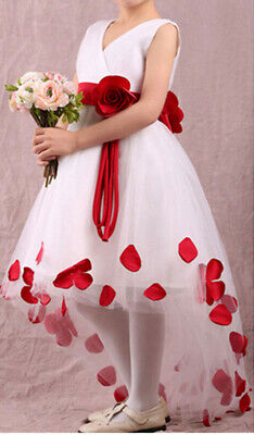 Sale Formal Wedding Party Flower Girl Pageant Tulle Dresses Princess Dress New