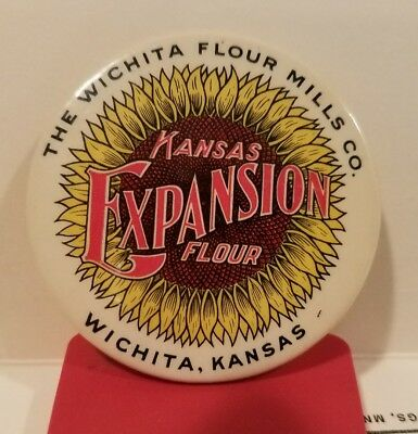 Vintage Wichita Kansas Expansion Flour Pocket Advertising Mirror