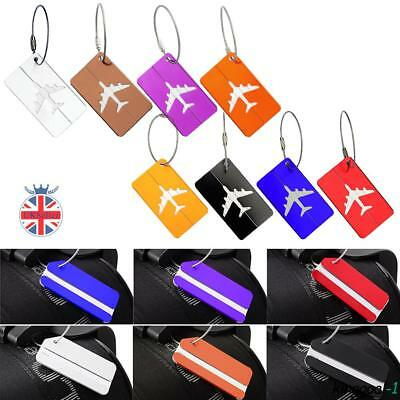 Aluminium Luggage Tags Suitcase Labels Name Card Address ID Baggage Travel
