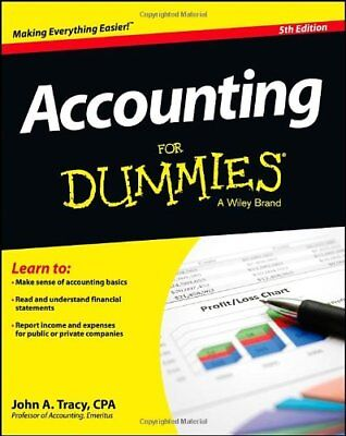 Accounting For Dummies,John A. Tracy- 9781118482223