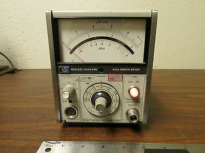 HP Agilent 435A RF Power Meter Tested Working
