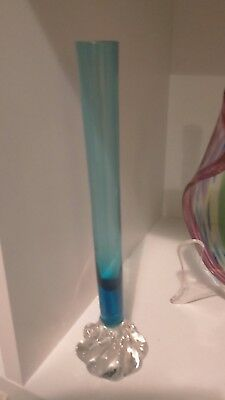 retro art glass bud vase