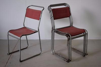 Vintage Industrial Canvas Stacking Cafe Bar Dining Kitchen Chairs (23 Available)