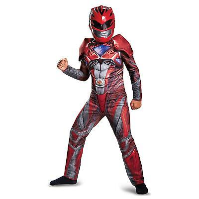 NEW Power Rangers Red Ranger Classic Muscle size M 7/8 Kids Costume Outfit
