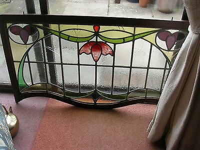 Vintage Art Deco stained glass panel. Gorgeous!!
