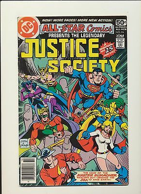 All Star Comics #74! DC Comics 1978! Justice Society! SEE PICS AND SCANS! WOW!