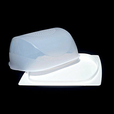 Tupperware Cheese Smart Keeper Small NEW Square White For All types of Cheese!
