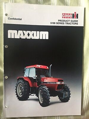 Case International Harvester Maxxum Confidential Product Guide 5100 Series
