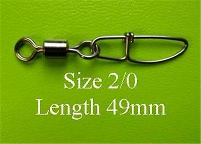 85x DFS size 2/0 ROLLING SWIVELS WITH CROSSLOCK INSURANCE SNAP, test 70kg  lures