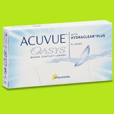 Acuvue Oasys Hydraclear plus (1x6pk lenses / BC 8.4;8.8)