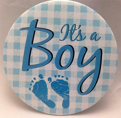 Birth Announcement Button Pins : It's a BOY Button Pin *NEW* New Baby BOY Gift