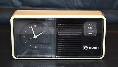 Vintage 1960's Rank Radio International Wind Up Clock/ 9 Volt Radio Bush Ba5451