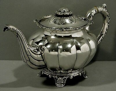 Chinese Export Silver Teapot  c1840   CUTSHING EARLIEST MARK          43 OUNCES