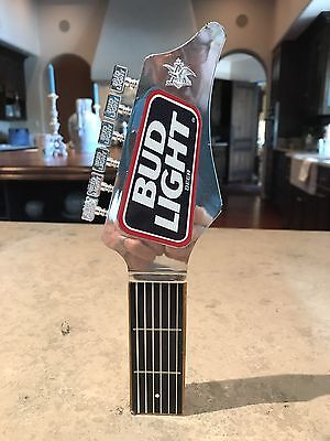 "Bud Light Beer Tap Handle Vintage Guitar 10"" St. Louis MO 1991"