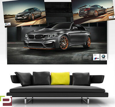 BMW M4 GTS POSTER PRINT, Wall ART in ONE PIECE, M Sport, Choice of 3 Posters!