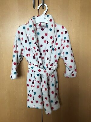 Next Girls Fluffy Dressing Gown 12-18 Months