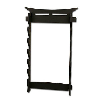 6 Tier Katana Sword Swords Wall Mount Display Rack #6Wt2